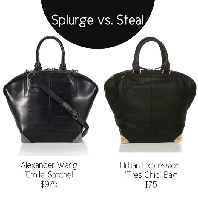 splurge or steal alexander wang dupe