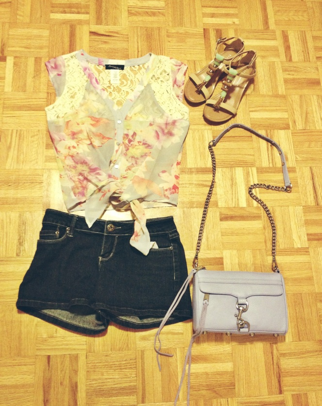 spring summer outfit featuring rebecca minkoff mini m.a.c. in lilac