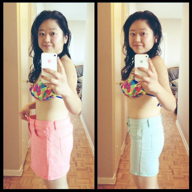 Personal training weight loss - before & after