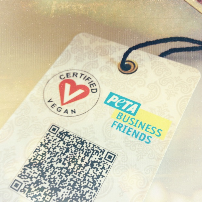 PETA certified vegan bag